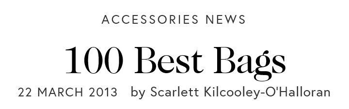 Le 100 migliori borse secondo Vogue.